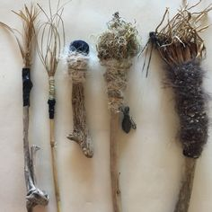Lorna Crane - Handmade Brushes - plant fibres, driftwood, cloth, yarn and ocean debris NSW Australia 2017