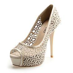 Lace Women's Stiletto Heel Peep Toe Pumps/Heels Shoes(More Colors) - USD $ 31.99