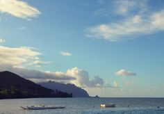 Hawaii. Oahu, fishing, boat, shoreline, ocean, beach, palm trees, travel guide, travel itinerary, travel, things to do
