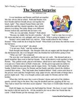 Third Grade Reading Comprehension Worksheet - A Day at the Circus ...