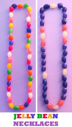 Easy DIY Easter Crafts Kids Can Make Easy DIY Jelly Bean necklace Easter craft idea for kids. The Best Easy DIY Easter Decoration Ideas kids can make. Cute crafts for Easter candy, Easter eggs, Resurrection, and more. Easter Candy, Hoppy Easter, Easter Eggs, Easter Food, Easter Table, Easter Snacks, Easter Activities, Easter Crafts For Kids, Easter Ideas