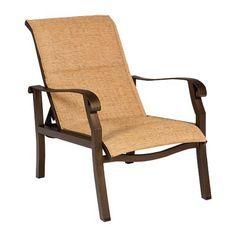 Woodard Cortland Sling Adjustable Patio Chair Color: Pewter