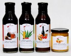 Label Design for Line of BBQ Sauces