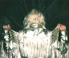 flight // silver leather jacket with fringe and wings Space Cowboys, Studio 54, Thing 1, Glam Rock, Retro, Rock N Roll, Boho, Metallica, Fancy