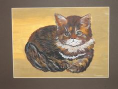 "Obraz ""Mačka""- maľba akrylom..."
