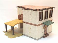Casas para el Belén con SystemX Clay Houses, Villa, Home Decor, Arched Doors, Bow Windows, Verandas, Columns, Brown Roofs, Brown Doors