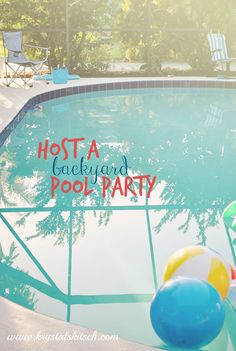 Host a swinging soiree by the pool this summer! Use these pool party ideas for a family fun get together!