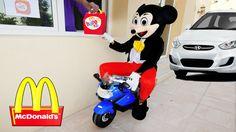 Mickey Mouse McDONALDS DRIVE THRU Prank! w/ Frozen Elsa Hulk Spiderman Movie Kids Toys in Real Life http://www.youtube.com/watch?v=7OA8LZy3Hjo
