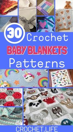 30 Crochet Baby Blanket Patterns are just what you need to create a handmade baby shower gift! Unicorn blankets, elephant blankets, and alphabet blankets! Crochet Heart Blanket, Baby Afghan Crochet, Afghan Crochet Patterns, Crochet Blankets, Crocheted Afghans, Crochet Poncho, Crochet Kids Hats, Crochet Ideas, Crochet Projects
