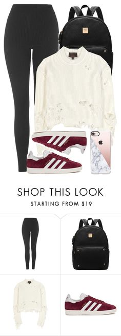 """Jet Set: Airport Style"" by scared-of-happy ❤ liked on Polyvore featuring Topshop, adidas Originals and Casetify"