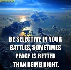 Some little battles are not worth it. Peace is important. ❤️