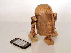 The R2-D2 Wooden iPhone Dock is Ewok-Friendly and Eco-Friendly