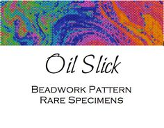 Oil Slick Peyote Stitch Beadwork Pattern  Cuff by RareSpecimens