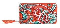 Bali Bright Zip to It Wallet - The popular accordian style wallet arrives in the mix. Made of 100�0Cotton, total size: 8