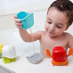 Create any fish you wish with Boon Creatures. PVC, Phthalate and BPA free Bath toys.