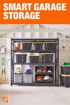 Garage Storage Shelving Units Racks Cabinets More At The Home Depot