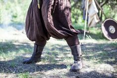 Viking Boots Embossed Leather . Available in: brown leather, black leather :: by medieval store ArmStreet