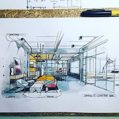 #sketch #diningroom #pantry #interiordesign