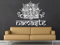 Mandala Wall Decal Namaste Lotus Flower Mandala Indian Lotus Yoga Wall Decals Vinyl Sticker Interior Home Decor Art Wall Decor Bedroom Welcome to Our shop! Wall decals are one of the great decorative innovations of recent years. Decals are a an easy and inexpensive way to decorate your space. You can bring more style to your home or business with our stickers! Size shown on the picture for showing purpose! Real size of this decal is 22 X 26 ✓Please note the size of this listing as the pic...