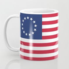 The Betsy Ross flag is an early design of the flag of the United States, popularly — but very likely incorrectly — attributed to Betsy Ross, using the common motifs of alternating red-and-white striped field with five-pointed stars in a blue canton. The flag was designed during the American Revolution and features 13 stars to represent the original 13 colonies. The distinctive feature of the Ross flag is the arrangement of 5-pointed stars in a circle. #BetsyRoss #BetsyRossflag