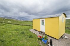 Where waves rumble against the craggy cliffs of Uig you'll find the Mangersta Bothy, perhaps the most scenic bothy in Scotland! How to find the bothy + Bothy, Outer Hebrides, Shepherds Hut, Scotland, Shed, Outdoor Structures, Good Things, Places, Lean To Shed