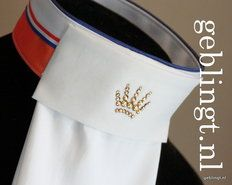 Gebling (Netherlands) Pre-tied stock tie, D-Luxe-Kings-&-Queens - perfect for the DQ's!