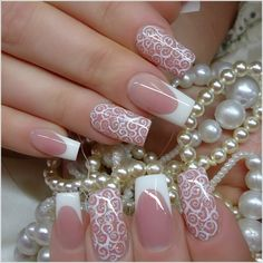 20 Classy Wedding Nail Art Designs - Be Modish