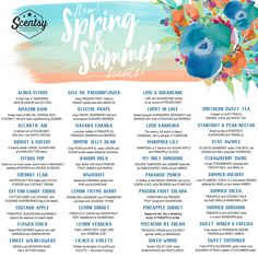 Our  new spring & summer Scentsy scents will be released March 1, 2017!!!! Who's excited?!? I'm so ready for fresh, fun, fruity, clean scents!