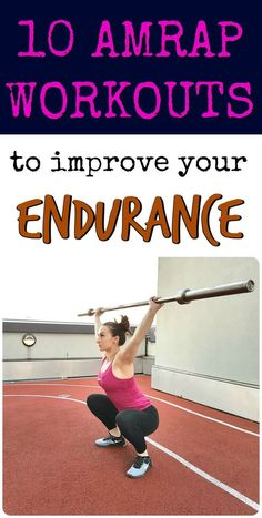 10 AMRAP Workouts to test your endurance and step up your conditioning! Amrap Workout, Endurance Workout, Endurance Training, Strength Workout, Workout Guide, Workout Challenge, Weight Training, Strength Training, Endurance Quotes