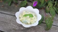 Falsk potatissallad - Du i Fokus Tofu, Zucchini, Cabbage, Ice Cream, Vegetables, Desserts, Glass, No Churn Ice Cream, Tailgate Desserts