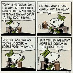 Veterans Day with Snoopy.