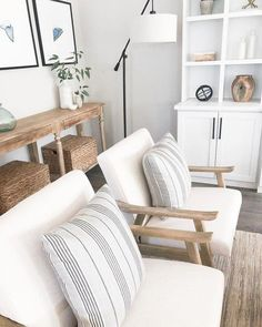 50 Easy And Simple Neutral Living Room Design Ideas. House decoration trends come and go but neutral tones remain the safest option for most individuals and families, or if you're renting, it's pr. Coastal Living Rooms, New Living Room, Living Room Furniture, Living Room Decor, White Furniture, Arrange Furniture, Furniture Dolly, Furniture Plans, Living Area