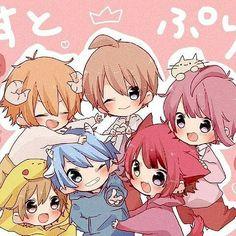 Manga Cute, Cute Anime Chibi, Cute Anime Boy, Anime Guys, Anime Group Of Friends, Friend Anime, Anime Best Friends, Neko Kawaii, Kawaii Art