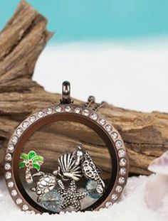 Origami Owl Beachy Locket ~ click image to see more ideas to design your own!