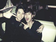 SS501′s Kim Kyu Jong and Kim Hyung Jun celebrate after a concert