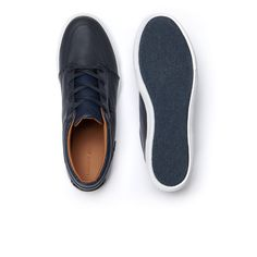 68564e5cf5ed2a Lacoste Men s Bayliss Vulc Leather Sneakers - Dark Blue 9.5 Lace Up  Trainers