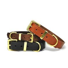 Classic Leather Dog Collar - gifts for pets