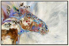 Horse Artwork: Carol Hagan, Kicking Bear's War Pony