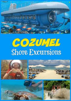 Cozumel Shore Excursions - Mini-SUB Diving, sightseeing, Atlantis subamrine, Akumal Bay and Yal Ku Lagoon, snorkeling and more adventures Cozumel Excursions, Cozumel Cruise, Cruise Port, Shore Excursions, Cruise Travel, Caribbean Cruise, Cruise Vacation, Cancun Vacation, Cruise Packing