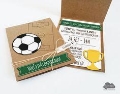 Convite Aniversário Futebol #convite #aniversario #festainfantil