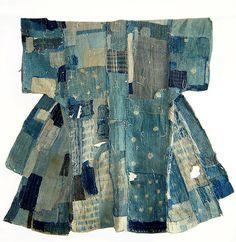 Indigo boro kimomo--vintage