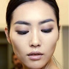 Rather than a fully blown smoky eye, try this softer alternative by smudging a brown shadow or pencil close to your lash line, and keeping the socket more subtle in a beige or lighter brown. Seen at: Gucci Spring/Summer 2015