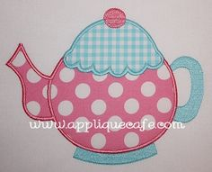 Teapot Applique Design