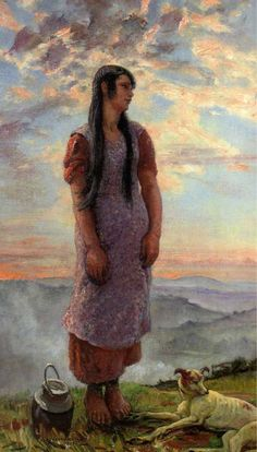 Dame Laura Knight - Beulah on top of the hills