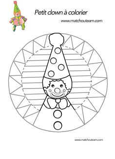 Ma Tchou team: Clown en papier : le coloriage pas comme les autres Clown Crafts, Carnival Crafts, Easy Diy Crafts, Diy Crafts For Kids, Art For Kids, Circus Theme, Circus Party, Kindergarten Crafts, Preschool Crafts