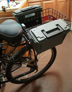 I converted a pair of ammo boxes into to twin locking storage for my bike and still keep basket space. Cost about $12.00. Check out the full project http://ift.tt/2cIns5c Don't Forget to Like Comment and Share! - http://ift.tt/1HQJd81