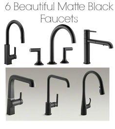 matte+black+faucets
