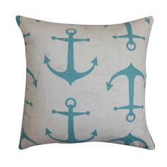 Anchors Pillow | Would be adorable in a nursery  | LFF Designs | www.facebook.com/LFFdesigns