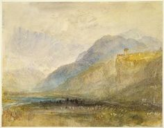 Joseph Mallord William Turner 'Alpine Landscape', c.1841–3 - Watercolour, graphite, pen and ink and scratching out on paper -  Dimensions Support: 228 x 291 mm -  © The Fitzwilliam Museum, Cambridge 2003