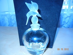 "Parfume Bottles Glass""Bird of  paradise"" Vintage."